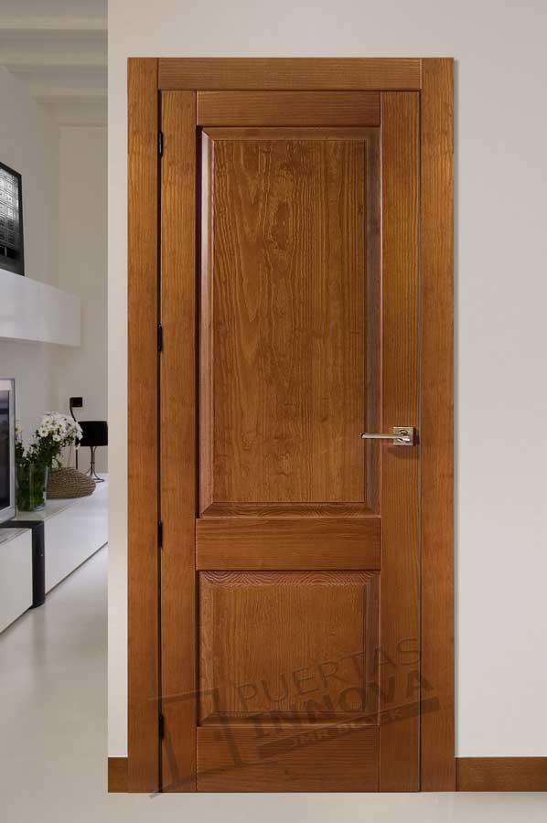 Puerta interior r stica modelo santander puertas innova s l u - Manillas para puertas de madera ...