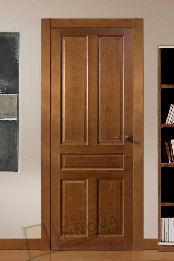 Puerta interior r stica mod 5c puertas innova s l u for Pared rustica interior