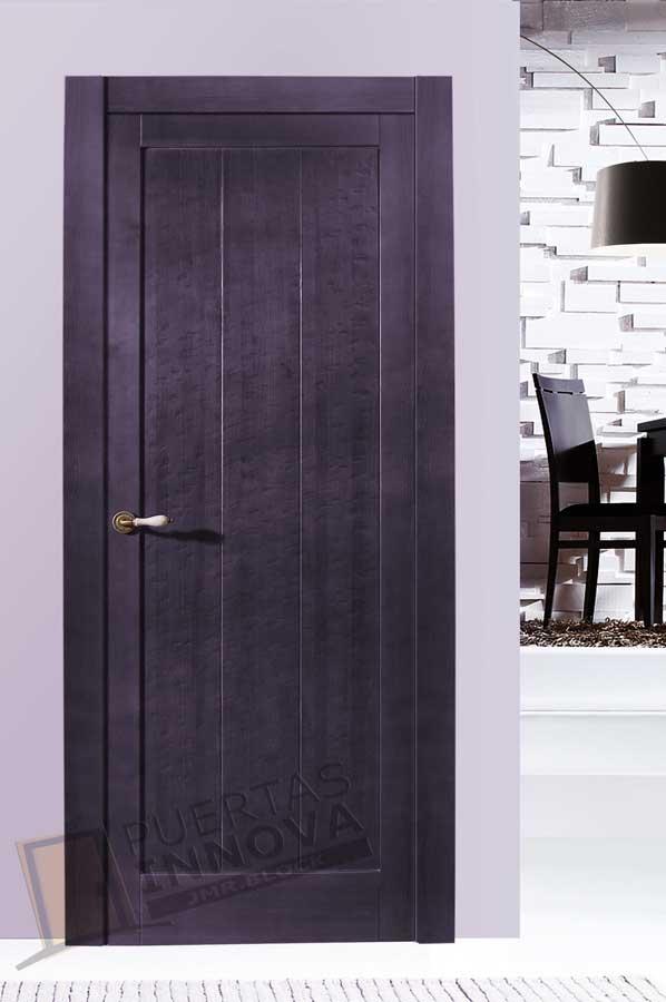 Puerta interior r stica modelo cordoba puertas innova s l u for Puertas de madera malaga
