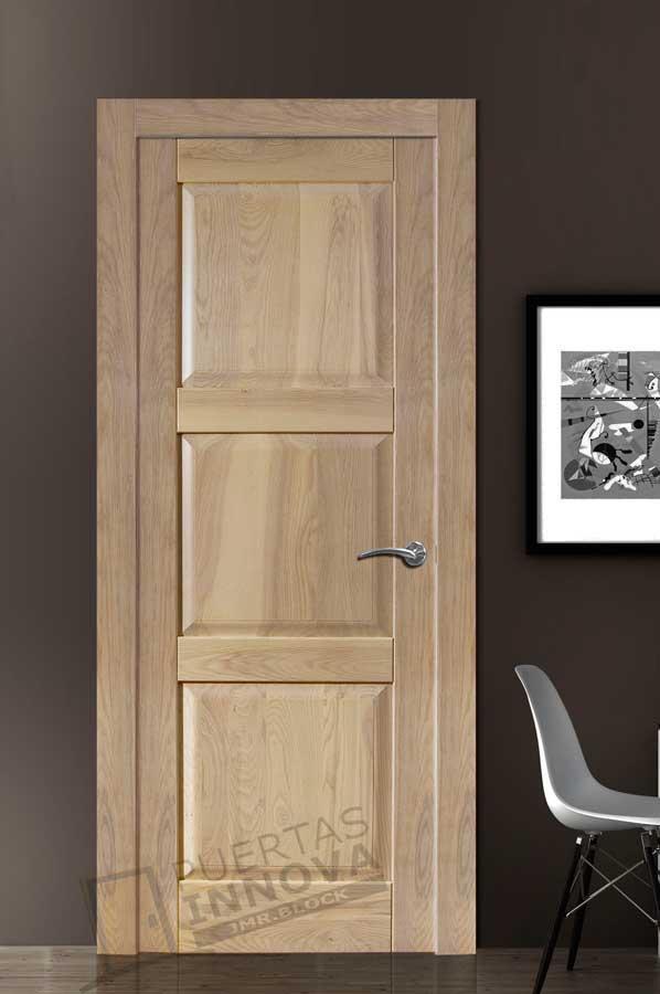 Puerta interior r stica mod 3c puertas innova s l u for Puertas madera rusticas interior