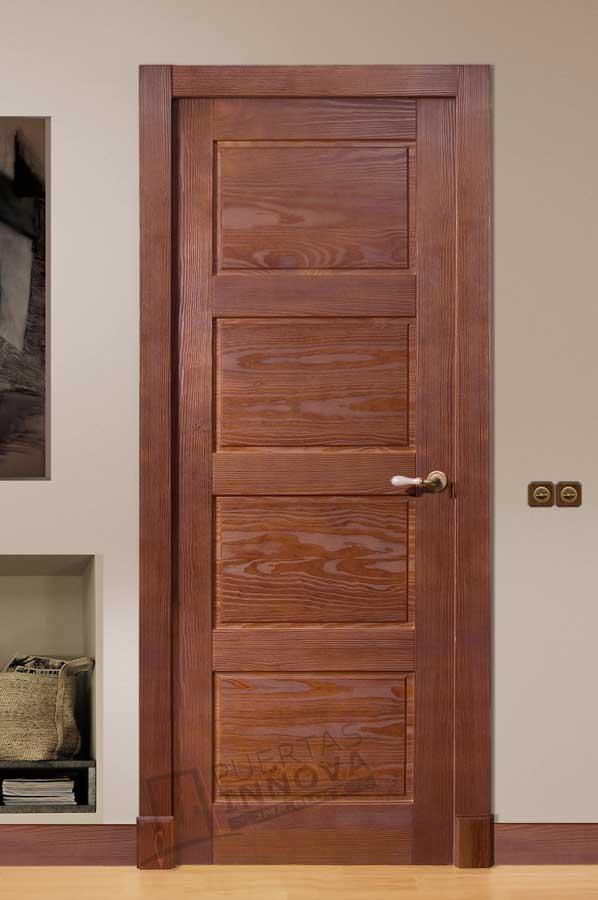 Puerta interior r stica modelo madrid puertas innova s l u - Puertas rusticas interior ...