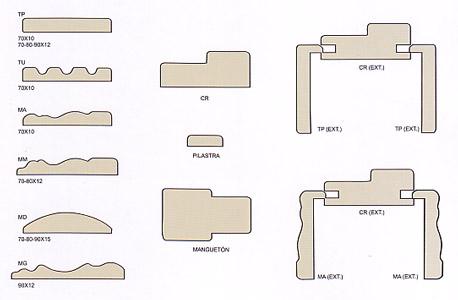 marcos para puertas sacadas