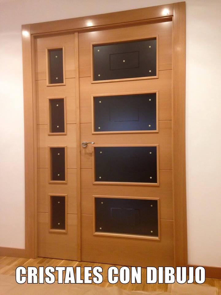 Puertas de interior modelo 8500 haya vaporizada puertas - Cristales puertas interiores ...