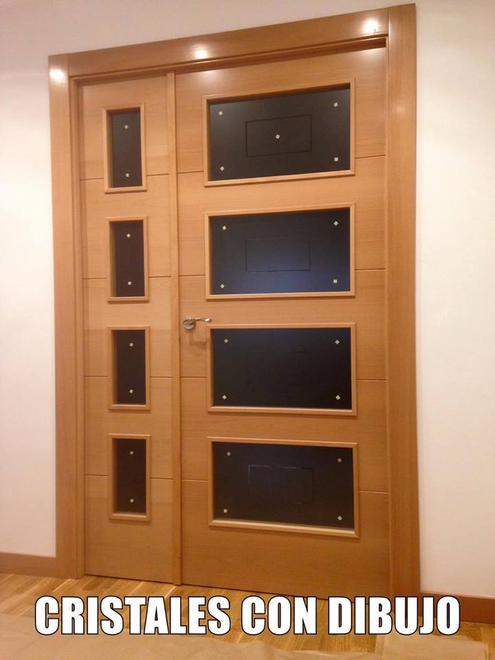 Puertas de interior modelo 8500 haya vaporizada puertas - Puertas de interior con cristales ...