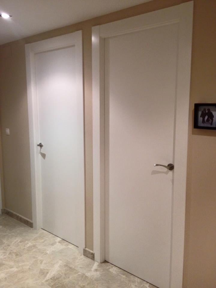 Puertas lacadas lisas trabajo realizado en valterna - Puertas lisas blancas ...
