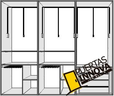 Interiores para armarios empotrados puertas innova s l u - Complementos armarios empotrados ...