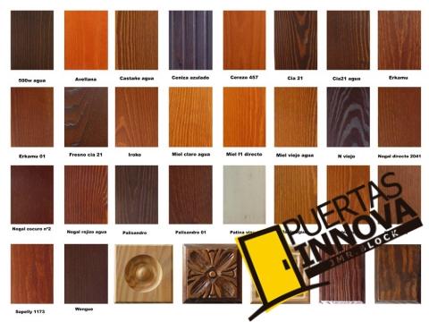 colores y muestras madera