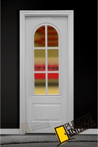 Puerta Lacada Blanca Lac 402 V6 Cristal Puertas Innova S L U