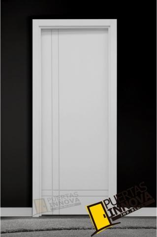 Puerta lacada blanca lac 9202 ciega puertas innova s l u - Puerta lacada blanca ...