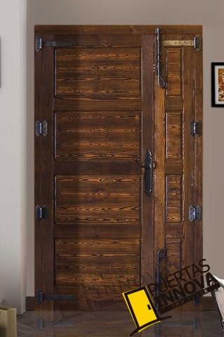 Puertas r sticas de madera de exterior puertas innova s l u - Puertas rusticas de exterior segunda mano ...