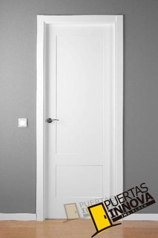 Puerta lacada blanca lac 5102 2 plafones puertas innova for Precio puertas blancas