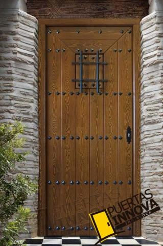 Puerta exterior modelo 3 puertas innova s l u for Puertas macizas exterior