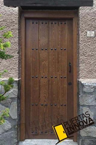 Puertas r sticas de madera de exterior puertas innova s l u - Puerta madera rustica ...