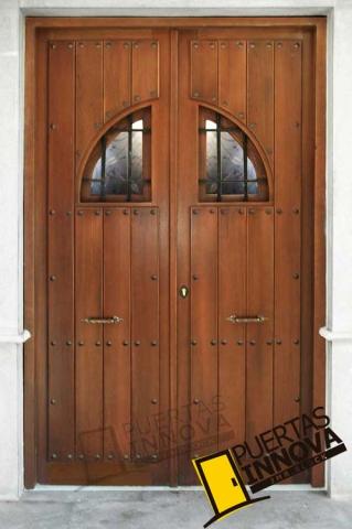 Puerta exterior r stica modelo 20 puertas innova s l u - Puerta rustica exterior ...