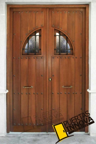 Puerta exterior r stica modelo 20 puertas innova s l u for Puertas macizas exterior