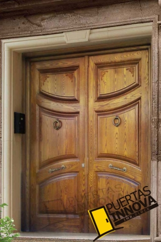 Puertas para exteriores puertas innova s l u for Puerta de madera exterior usada
