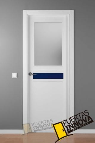 Puerta lacada blanca crisho 1 1v puertas innova s l u for Puerta lacada blanca
