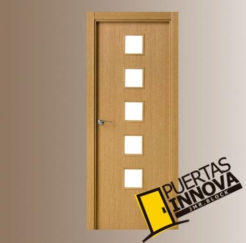 Puerta interior moderna cristal puertas innova - Puertas interior cristal ...
