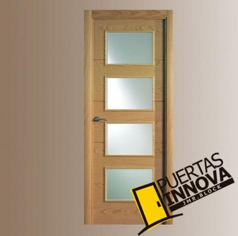 Puerta interior moderna v4 cristal puertas - Puertas interior cristal ...