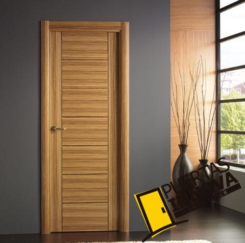 Puertas interiores modernas puertas innova s l u for Puertas madera interiores catalogo
