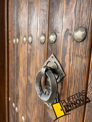 puerta de exterior rustica