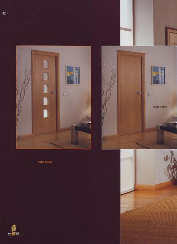 Puerta interior moderna modelo 7005 roble y 7000 roble for Puertas roble modernas