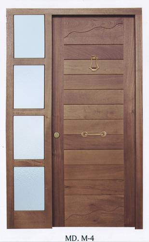 Puerta exterior de madera modelo exterior madera m4 - Puertas de esterior ...