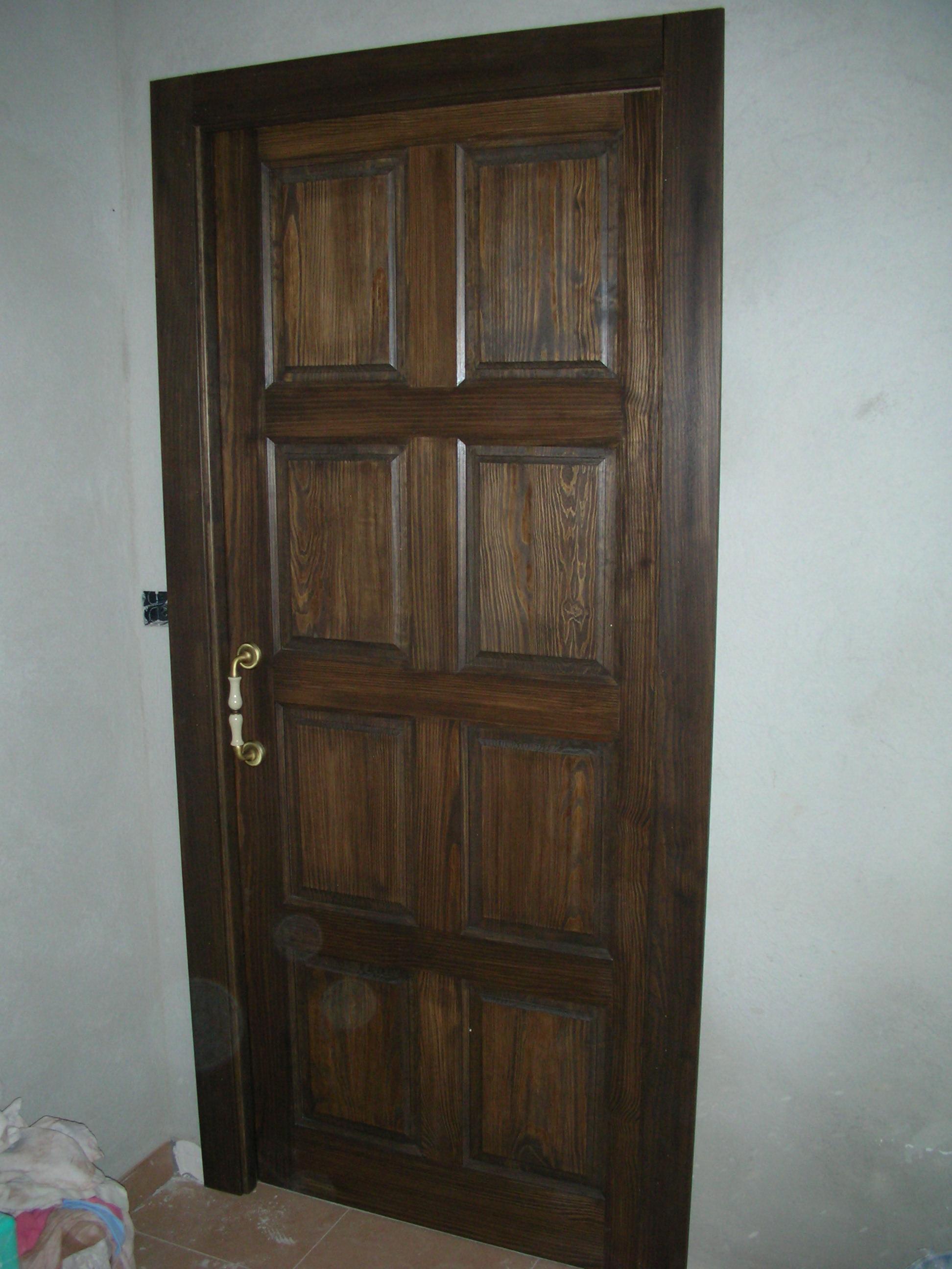 Puerta interior r stica modelo 8 cuadros - Puertas rusticas interior ...