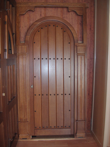 Puerta exterior de madera modelo exterior madera 001 - Modelo de puertas de madera ...